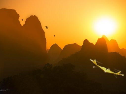 Photomontage Voyage sur une planète inconnue