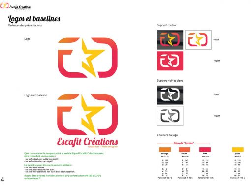 Charte graphique Escafit Créations