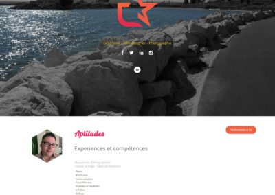 Webdesign site CV – Mr Escafit