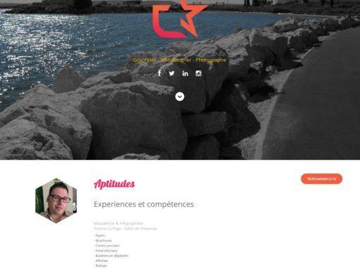 Webdesign site CV – Mr Escafit